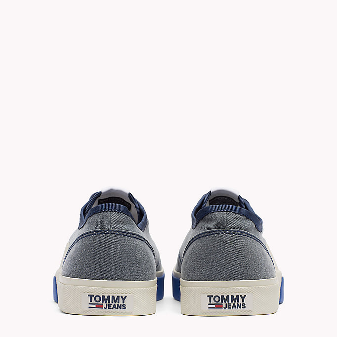 TOMMY JEANS Logo Lace-Up Textile Trainers - RWB - TOMMY JEANS Men - detail image 2