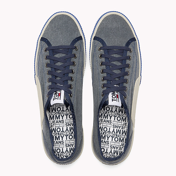 TOMMY JEANS Logo Lace-Up Textile Trainers - RWB - TOMMY JEANS Men - detail image 3