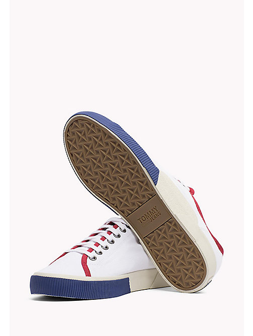 TOMMY JEANS Logo Lace-Up Textile Trainers - RWB - TOMMY JEANS Shoes - detail image 1