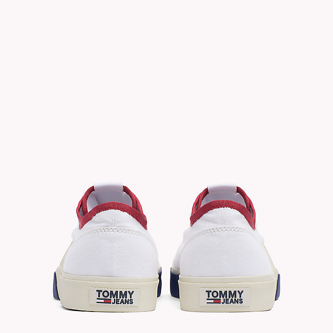 TOMMY JEANS Logo Lace-Up Textile Trainers - JELLY BEAN - TOMMY JEANS Men - detail image 2