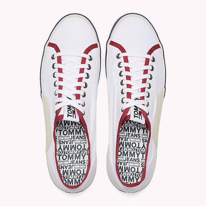 TOMMY JEANS Logo Lace-Up Textile Trainers - JELLY BEAN - TOMMY JEANS Men - detail image 3