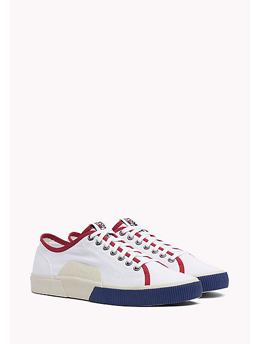 TOMMY JEANS Logo Lace-Up Textile Trainers - RWB - TOMMY JEANS Shoes - main image