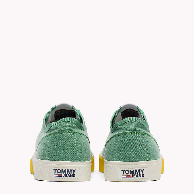 TOMMY JEANS Logo Lace-Up Textile Trainers - COBBLESTONE - TOMMY JEANS Men - detail image 2