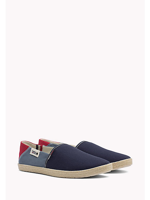 TOMMY JEANS Colour-Blocked Espadrille Shoes - INK-JEANS-TANGO RED - TOMMY JEANS Shoes - main image