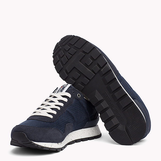 TOMMY JEANS Panelled Mesh Trainers - MAGNET - TOMMY JEANS Shoes - detail image 1