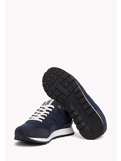TOMMY JEANS Panelled Mesh Trainers - INK - TOMMY JEANS Shoes - detail image 1