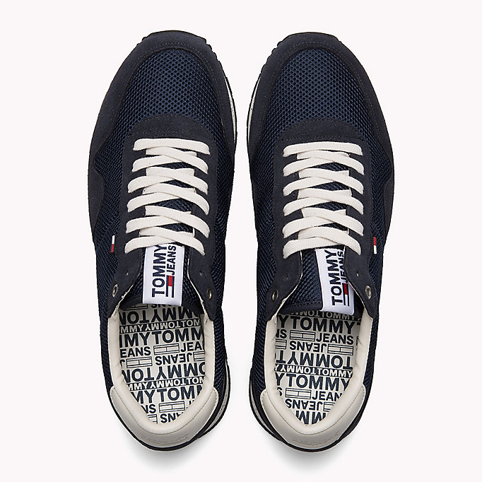 TOMMY JEANS Panelled Mesh Trainers - MAGNET - TOMMY JEANS Shoes - detail image 3