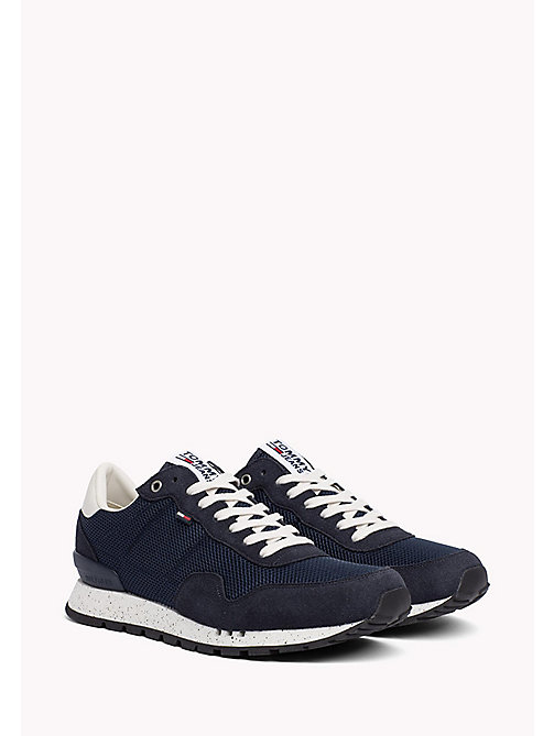 TOMMY JEANS Panelled Mesh Trainers - INK - TOMMY JEANS Shoes - main image