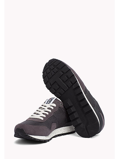 TOMMY JEANS Panelled Mesh Trainers - MAGNET - TOMMY JEANS Summer shoes - detail image 1