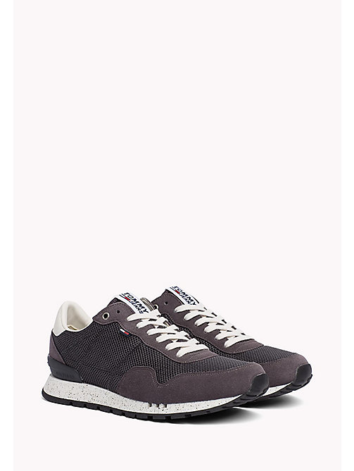 TOMMY JEANS Panelled Mesh Trainers - MAGNET - TOMMY JEANS Shoes - main image