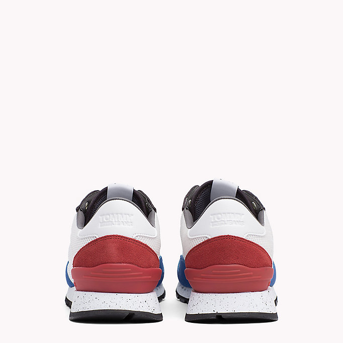 TOMMY JEANS Panelled Mesh Trainers - COBBLESTONE - TOMMY JEANS Shoes - detail image 2