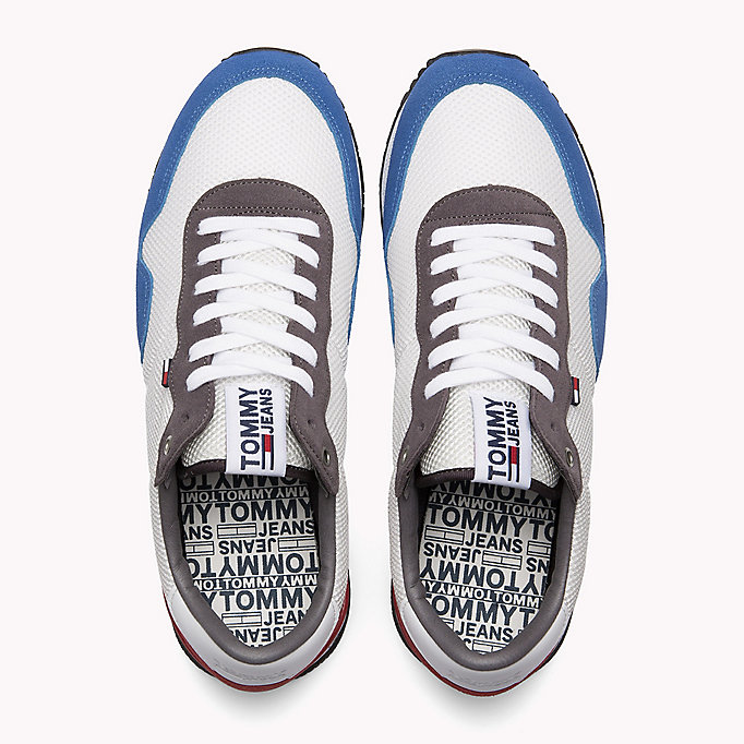 TOMMY JEANS Panelled Mesh Trainers - COBBLESTONE - TOMMY JEANS Shoes - detail image 3