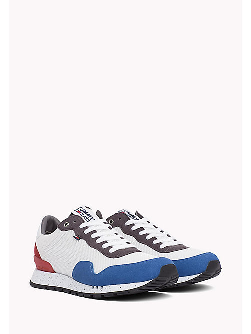 TOMMY JEANS Panelled Mesh Trainers - RWB - TOMMY JEANS Tommy Jeans Shoes - main image