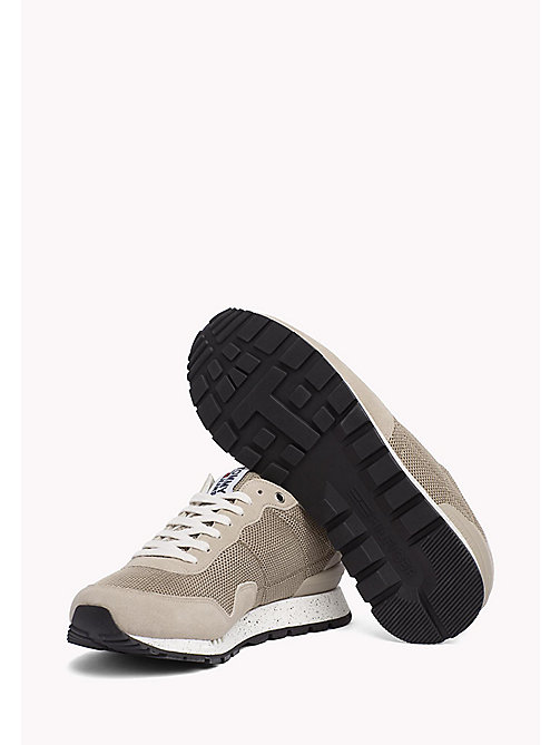 TOMMY JEANS Panelled Mesh Trainers - COBBLESTONE - TOMMY JEANS Summer shoes - detail image 1