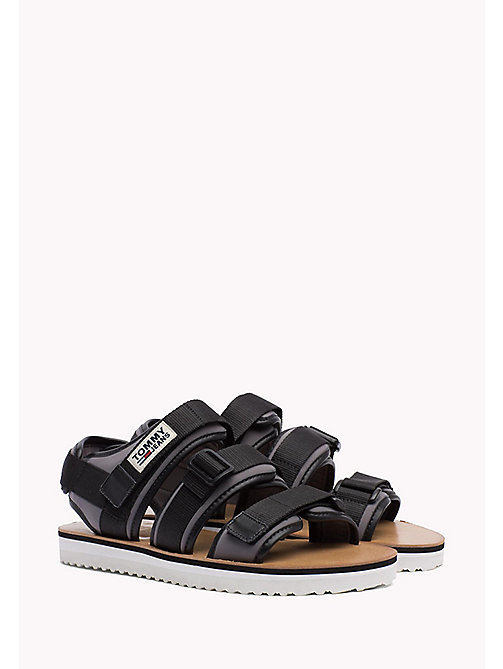 TOMMY JEANS Urban Sandals - BLACK - TOMMY JEANS Festivals Season - main image