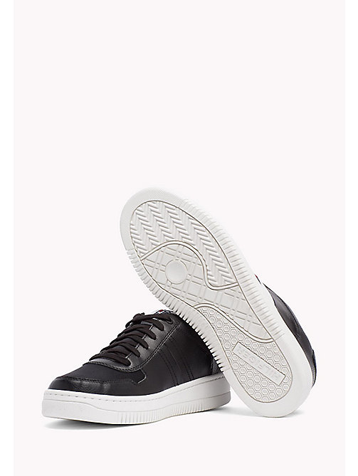 Tommy Basket Trainers - BLACK - TOMMY JEANS Shoes - detail image 1