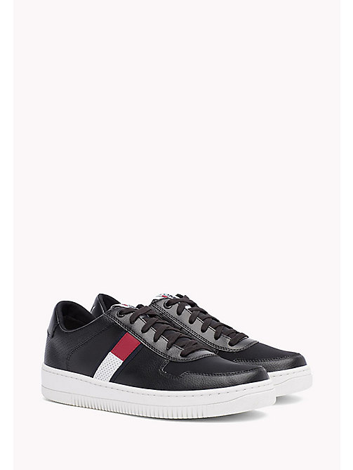 Tommy Basket Trainers - BLACK - TOMMY JEANS Shoes - main image