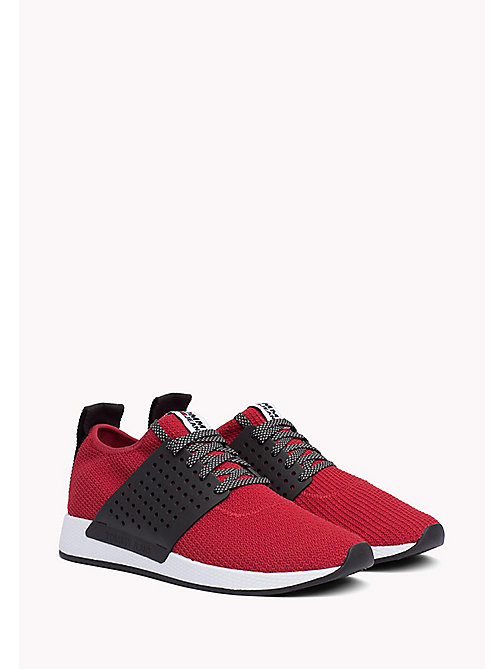 TOMMY JEANS Knit Mesh Trainers - TANGO RED - TOMMY JEANS Tommy Jeans Shoes - main image