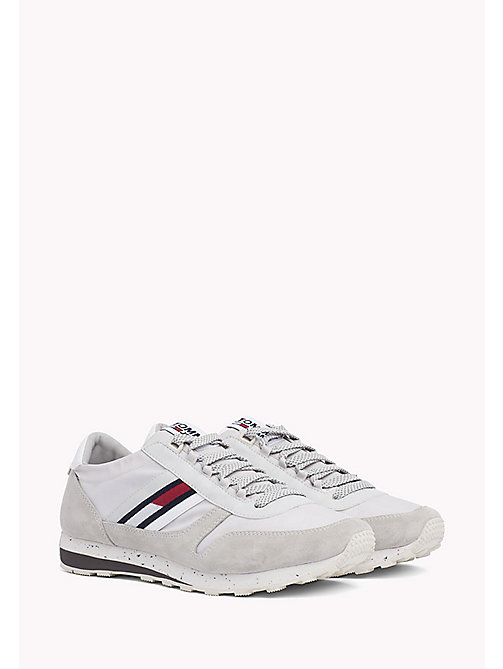 Retro Suede Trainers - DIAMOND GREY - TOMMY JEANS Shoes - main image