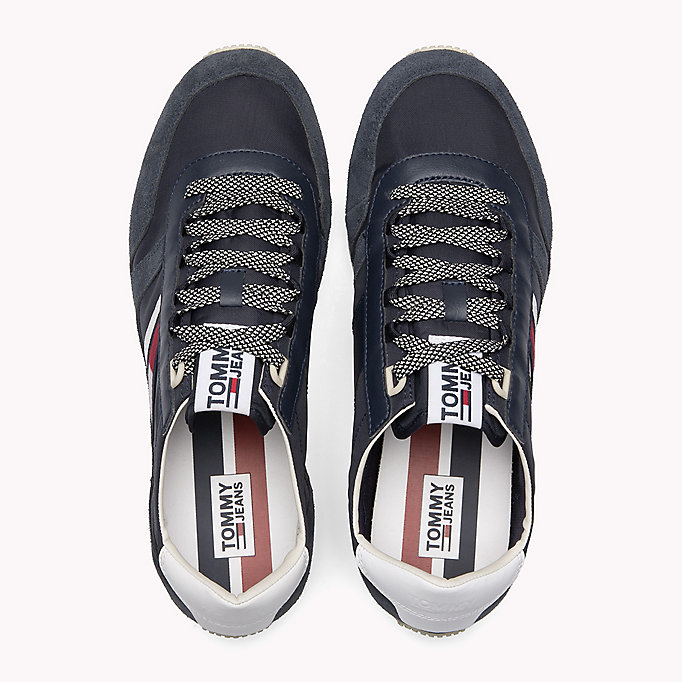 TOMMY JEANS Retro Suede Trainers - MAGNET - TOMMY JEANS Shoes - detail image 3