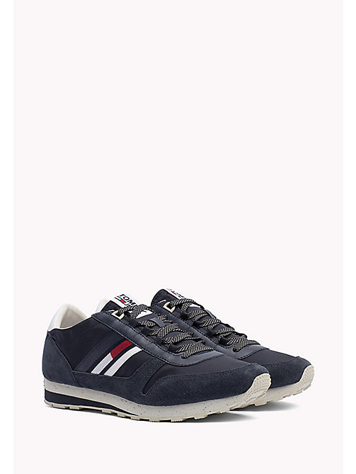 TOMMY JEANS Retro Suede Trainers - INK - TOMMY JEANS Tommy Jeans Shoes - main image
