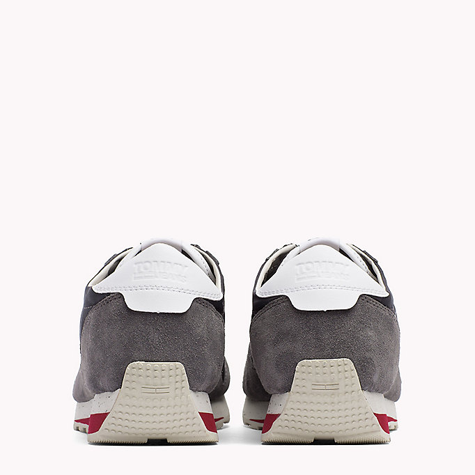 TOMMY JEANS Retro Suede Trainers - DIAMOND GREY - TOMMY JEANS Shoes - detail image 2