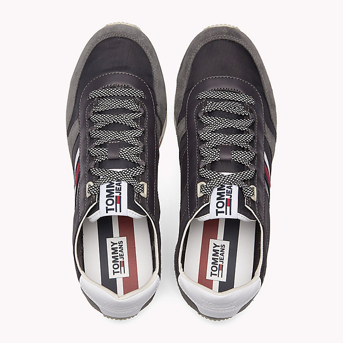 TOMMY JEANS Retro Suede Trainers - DIAMOND GREY - TOMMY JEANS Shoes - detail image 3