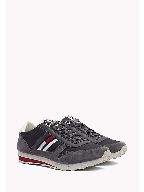 TOMMY JEANS Retro Suede Trainers - MAGNET - TOMMY JEANS Tommy Jeans Shoes - main image
