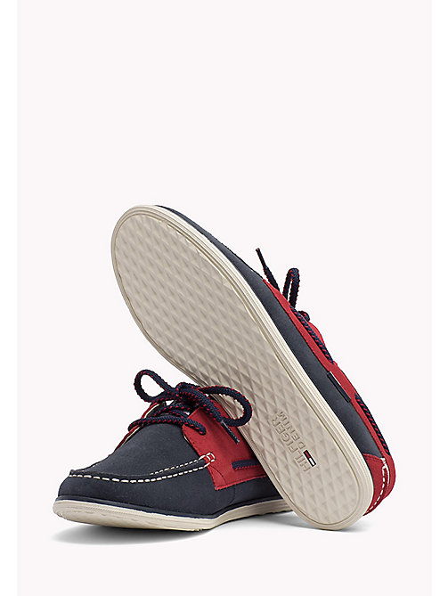 TOMMY JEANS TOMMY JEANS SUEDE BOATSHOE - INK-TANGO RED - TOMMY JEANS Tommy Jeans Shoes - detail image 1