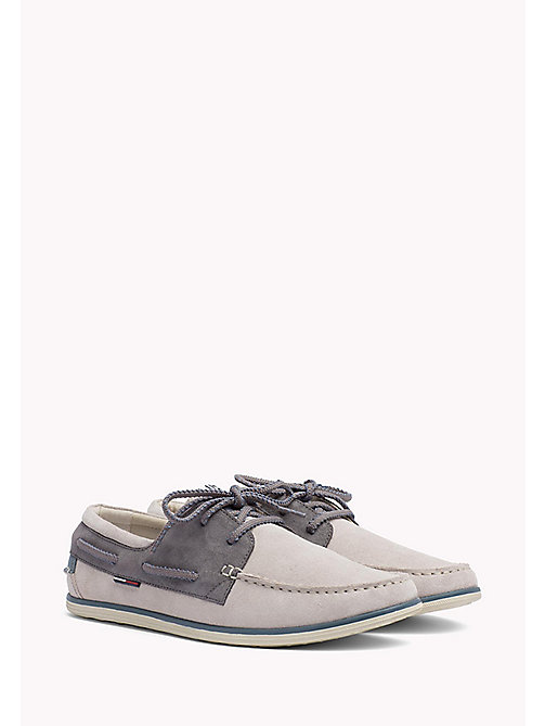 TOMMY JEANS TOMMY JEANS SUEDE BOATSHOE - STEEL GREY-INK-JEANS - TOMMY JEANS Tommy Jeans Shoes - main image