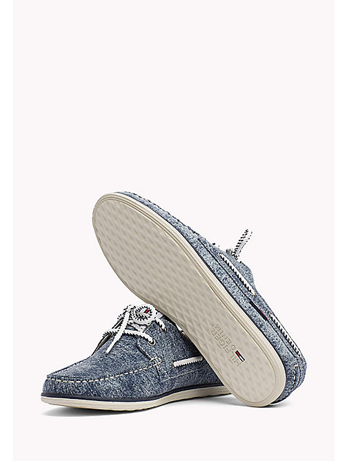 TOMMY JEANS Denim Boat Shoes - DENIM - TOMMY JEANS Loafers & Boat Shoes - detail image 1