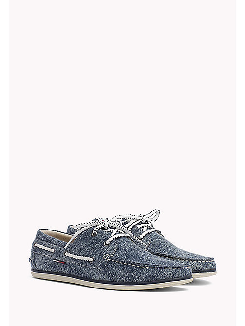 TOMMY JEANS Denim Boat Shoes - DENIM - TOMMY JEANS Loafers & Boat Shoes - main image