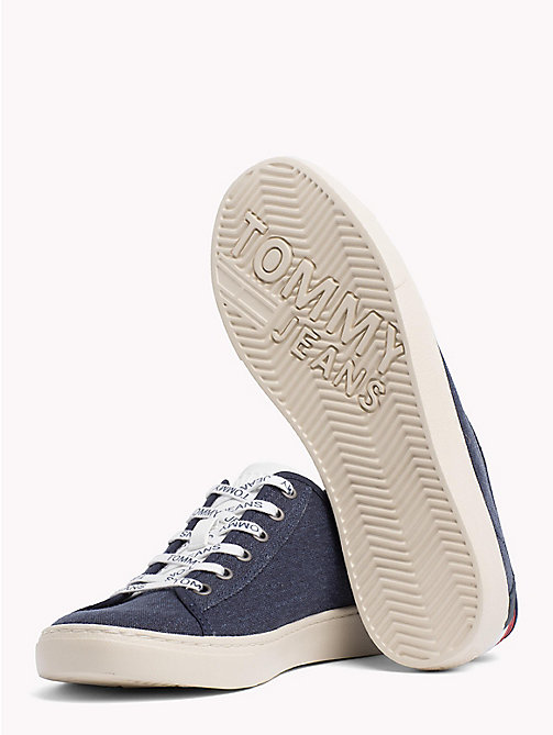 TOMMY JEANS Signature Heel Lightweight Lace-Up Trainers - BLACK IRIS -  Summer shoes - detail image 1