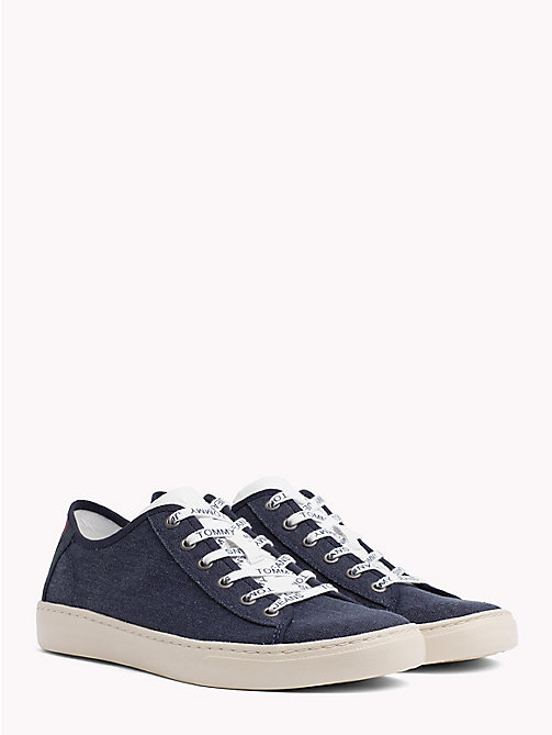 TOMMY JEANS Signature Heel Lightweight Lace-Up Trainers - BLACK IRIS - TOMMY JEANS Summer shoes - main image