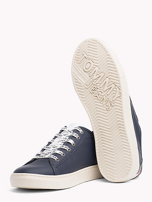 TOMMY JEANS Lightweight Lace-Up Leather Trainers - BLACK IRIS - TOMMY JEANS NEW IN - detail image 1