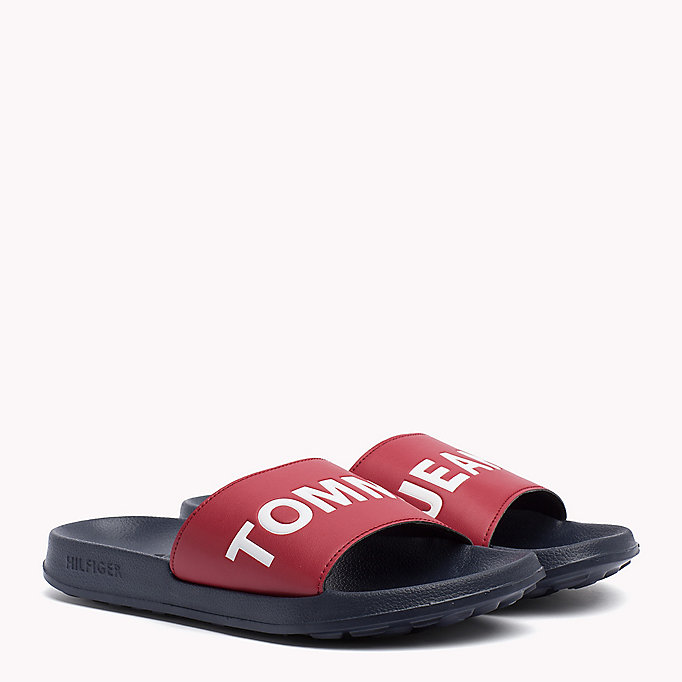 TOMMY JEANS Tommy Jeans Slider Sandals - BLACK - TOMMY JEANS Shoes - main image