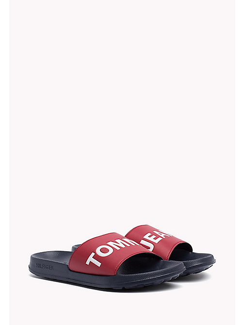 TOMMY JEANS Tommy Jeans Slider Sandals - RWB - TOMMY JEANS Shoes - main image