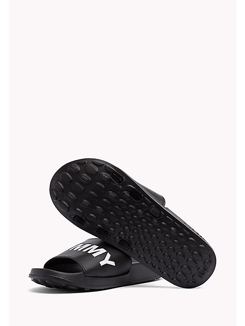 TOMMY JEANS Tommy Jeans Slider Sandals - BLACK - TOMMY JEANS Festivals Season - detail image 1