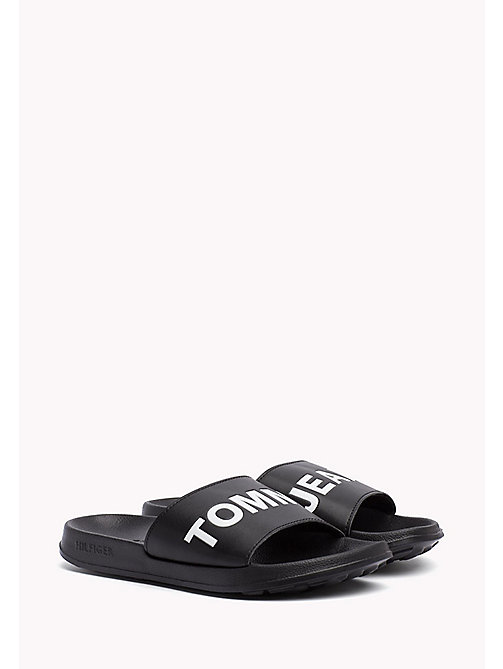 TOMMY JEANS Tommy Jeans Slider Sandals - BLACK - TOMMY JEANS Festivals Season - main image
