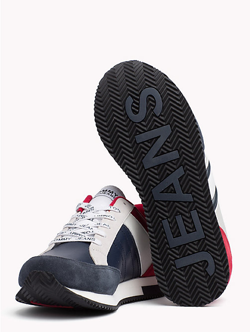 TOMMY JEANS Retro Colour-Blocked Trainers - RWB - TOMMY JEANS Shoes - detail image 1