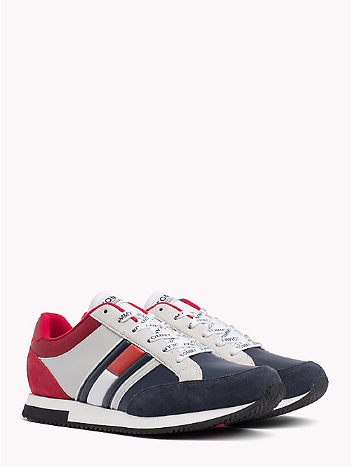 TOMMY JEANS Retro Colour-Blocked Trainers - RWB - TOMMY JEANS Shoes - main image