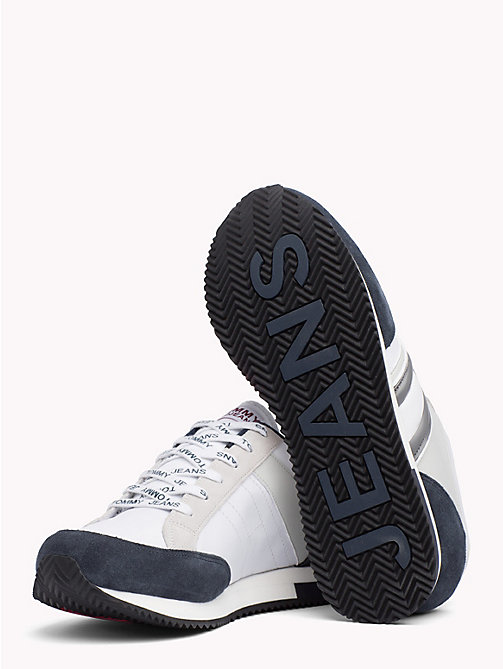 TOMMY JEANS Colour-blocked retro-sneaker - INK - ICE - WHITE - TOMMY JEANS Schoenen & Accessoires - detail image 1