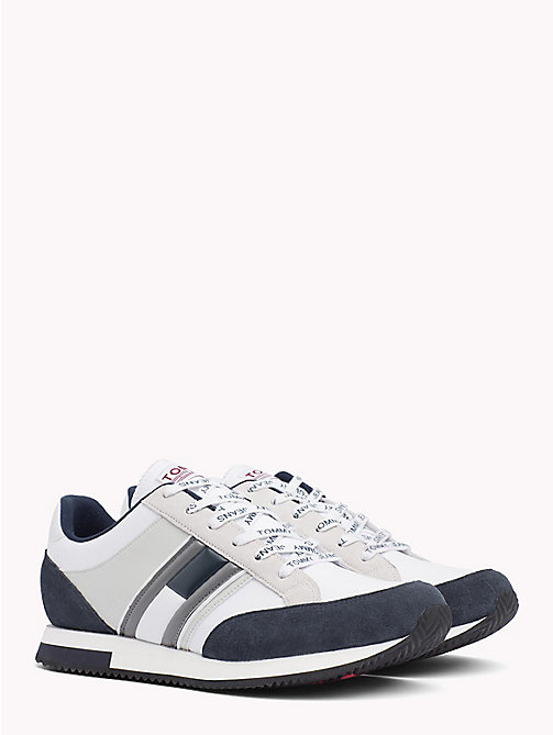 TOMMY JEANS Retro Colour-Blocked Trainers - INK - ICE - WHITE -  Shoes & Accessories - main image