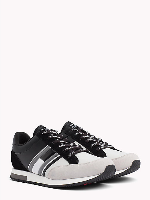 TOMMY JEANS Retro Colour-Blocked Trainers - BLACK - ICE - TOMMY JEANS VACATION - main image