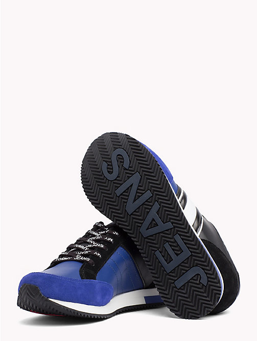 TOMMY JEANS Retro Colour-Blocked Trainers - BLACK - SURF THE WEB - TOMMY JEANS Shoes & Accessories - detail image 1