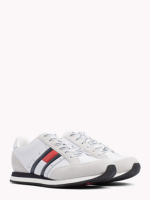 TOMMY JEANS Retro Lace-Up Trainers - RWB - TOMMY JEANS VACATION - main image