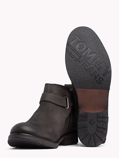 TOMMY JEANS Buckle Suede Ankle Boots - STEEL GREY - TOMMY JEANS Shoes & Accessories - detail image 1