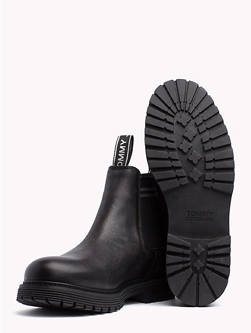 TOMMY JEANS Tommy Jeans Leather Chelsea Boots - MAGNET - TOMMY JEANS Shoes & Accessories - detail image 1
