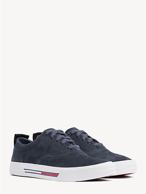 TOMMY JEANS City Suede Lace-Up Trainers - INK - TOMMY JEANS Shoes & Accessories - main image