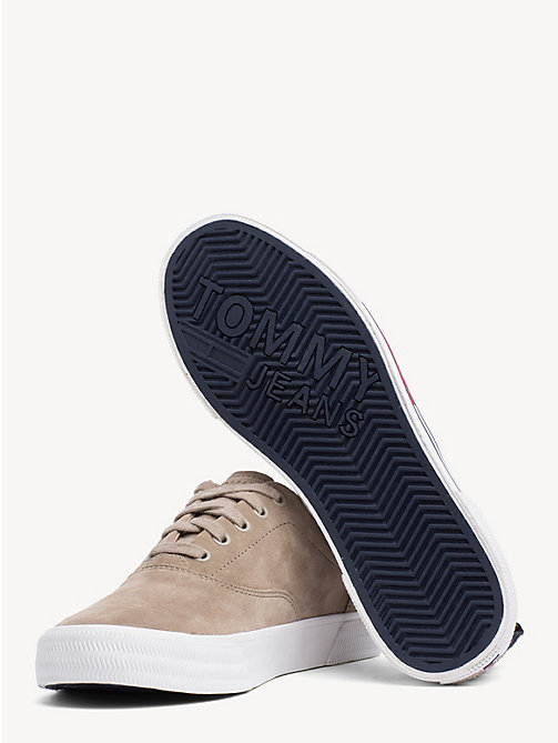 TOMMY JEANS City Suede Lace-Up Trainers - COBBLESTONE - TOMMY JEANS VACATION - detail image 1